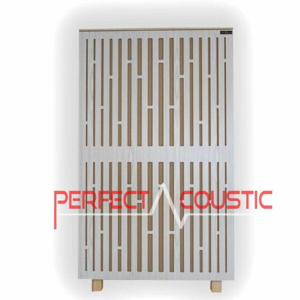 Akustisk panel af diffusor frontpanel i hvid (2)