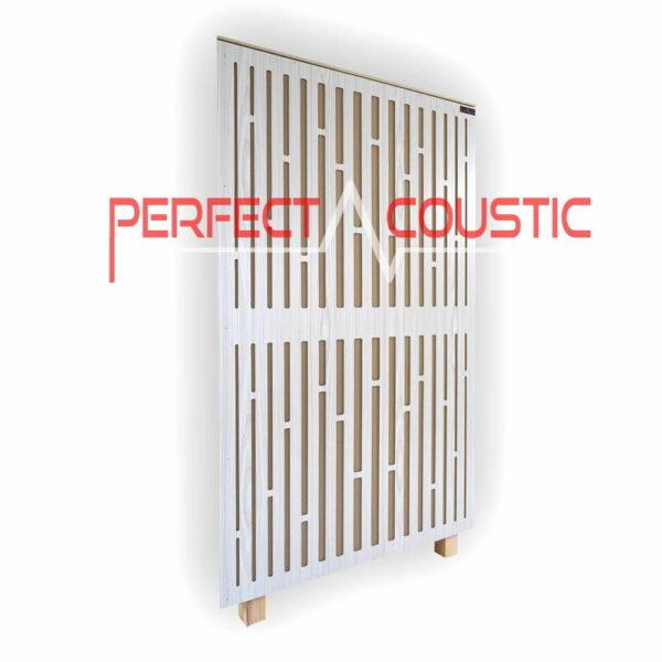 Akustisk panel af diffusorfrontpanel i hvid (1)