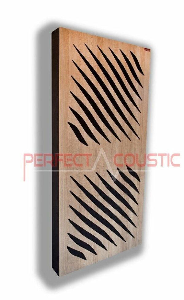 Akustisk panel med diffusor