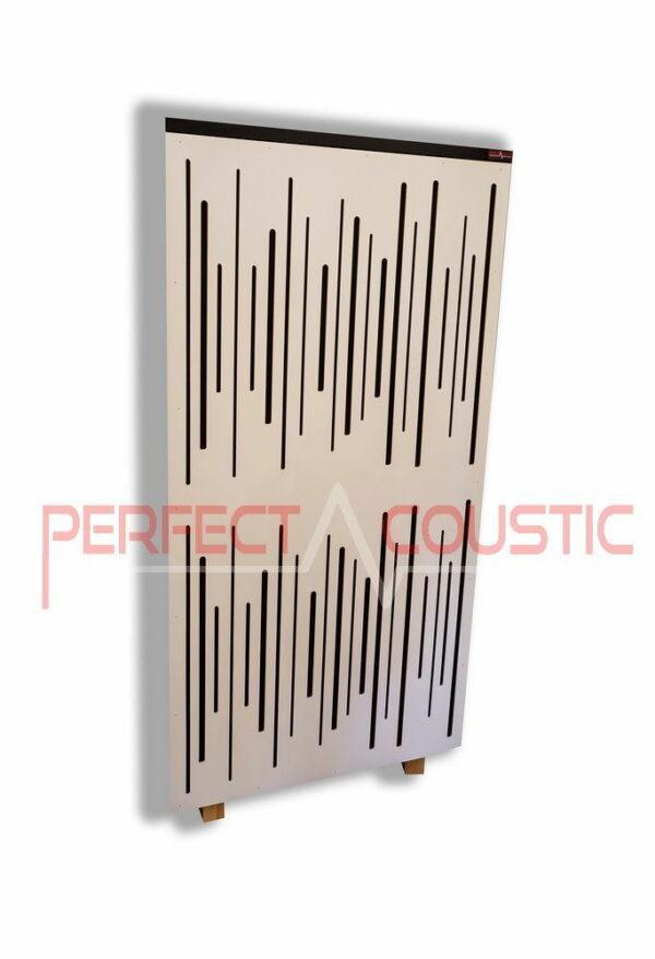Akustisk panel med diffusorfarve