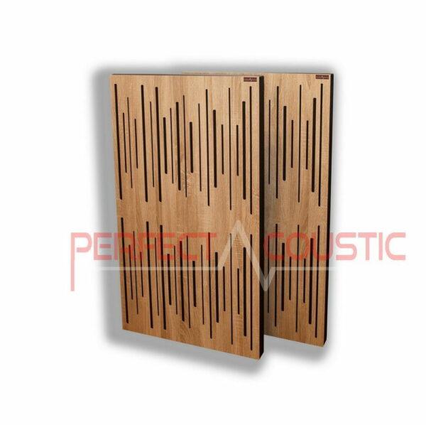 Akustisk panel med diffusorlys egetræ (2)