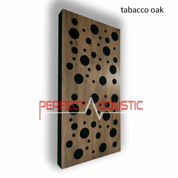 Akustisk panel med diffusormønstre