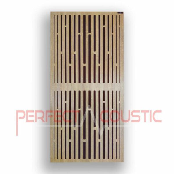 Akustisk panel med diffusormønstre i gitter