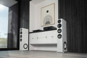 D15-højttalere i rummet