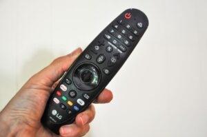 Fjernbetjeningen er LG-CX afstanden
