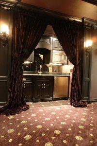 Lydisolerede gardiner i biograf rum