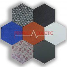 Mønstrede sekskantede akustiske paneler -farver