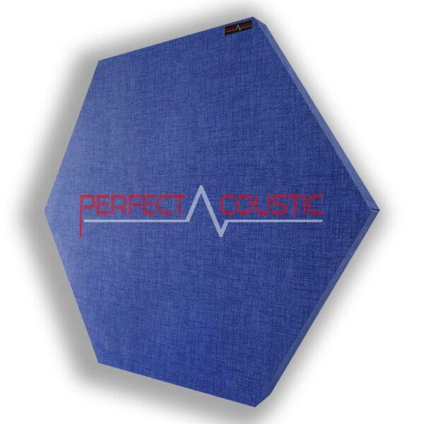 Mønstret sekskantet akustisk panel blå