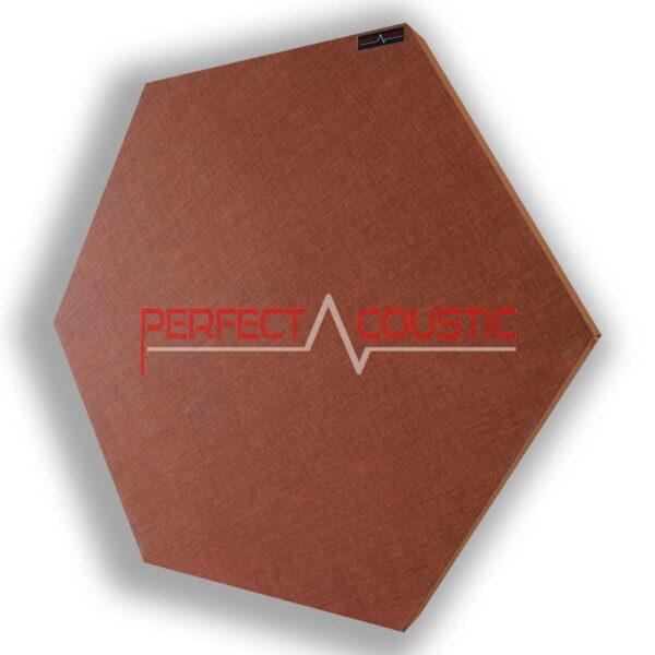 Mønstret sekskantet akustisk panel brun