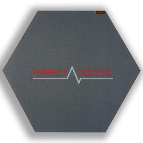 Mønstret sekskantet akustisk panel grå 1.