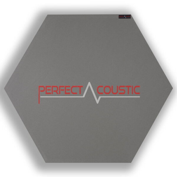 Mønstret sekskantet akustisk panel grå 2.