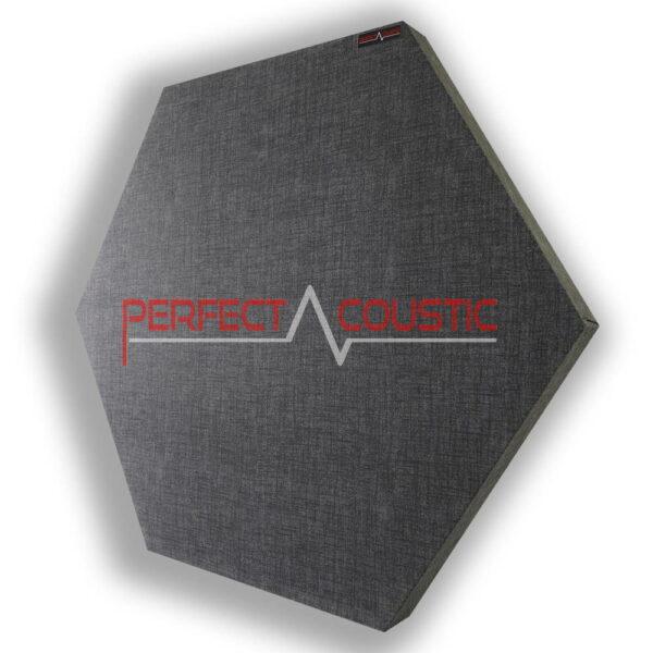 Mønstret sekskantet akustisk panel grå
