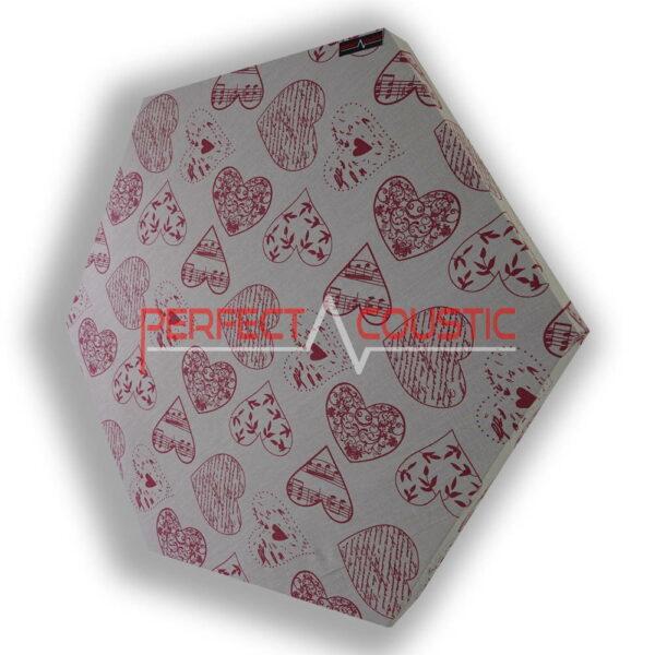 Mønstret sekskantet akustisk panel hjerte mønstret