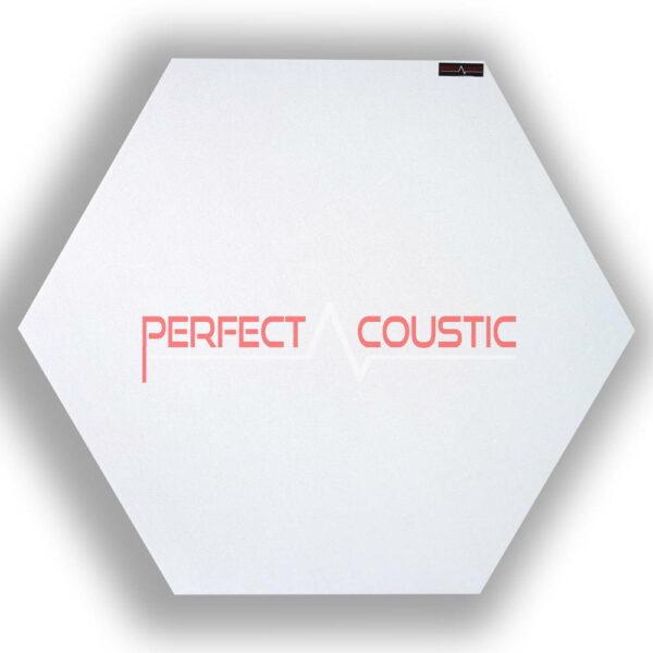 Mønstret sekskantet akustisk panel hvid