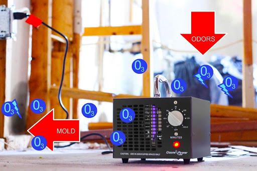 Ozon-desinfektion-of-akustisk-panel