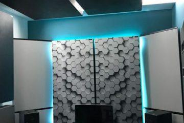 Perfekt-Akustisk-lydabsorberende-panel-i-en-lille-hus-studie-2-460x460