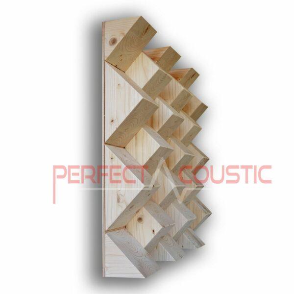 Pyramid acoustic diffuser