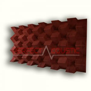 Pyramide akustisk diffusor farve