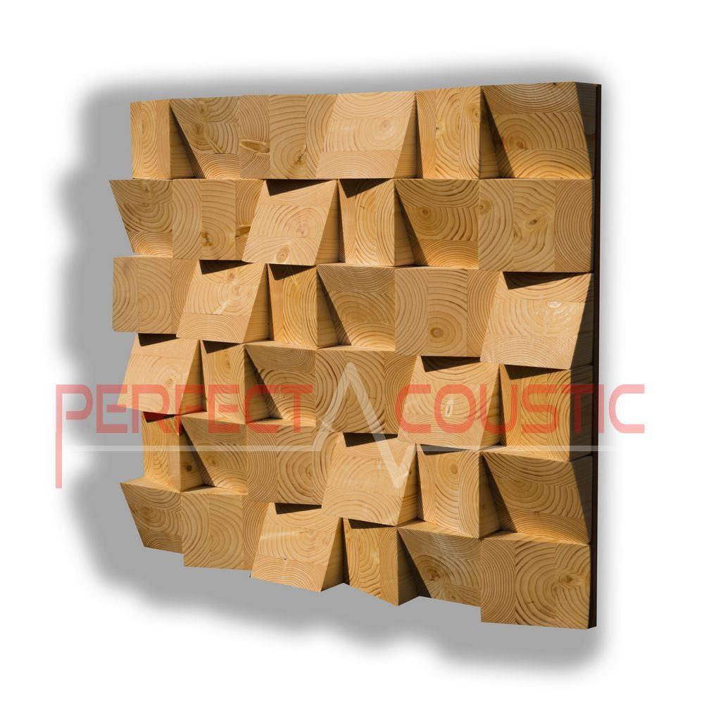 Træ akustisk diffusor