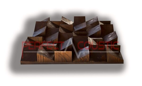 Wood acoustic diffuser type (3)