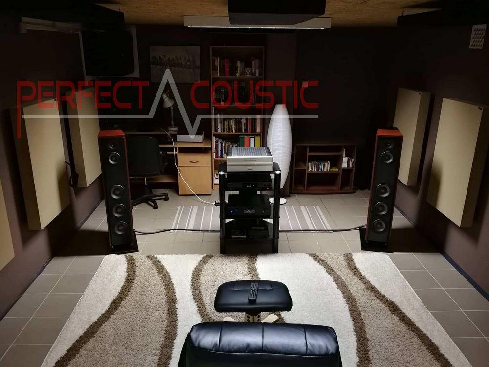 akustisk behandling af hjemmebiograf