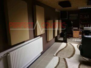 Akustikpanel-akustisk behandling af hjemmebiograf