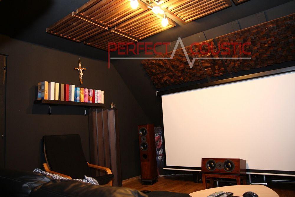 biografrum akustik design med akustiske absorbere