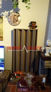 columnar akustisk diffusor af træ