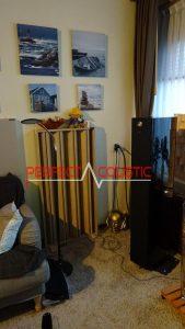columnar akustisk diffusor på reflektionspunktet