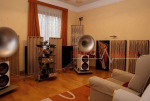 columnar akustisk træ diffusor udstyr