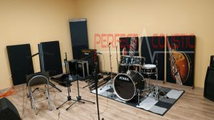 diffusor frontpanel akustiske paneler i studio