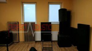 diffusor frontpanel akustiske paneler nær væggen