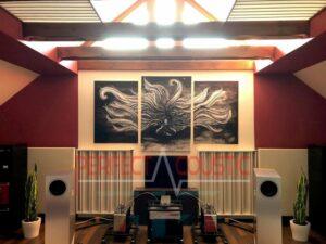 akustisk vægpaneler med dobbelt lædermembran