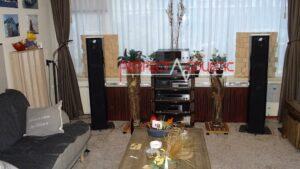 højttalerplacering og akustisk diffuserinstallation