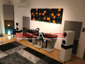 hi-fi værelse med diffusorer