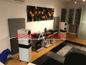 hifi værelse med akustiske elementer
