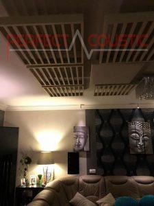 hjemmebiograf akustisk design med diffusor frontpanel akustisk diffusor