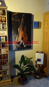 trykt akustisk panel med violin
