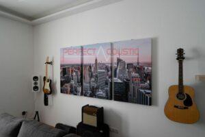 vægfoto akustiske paneler